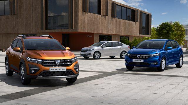Dacia Sandero, Dacia Sander Stepway en Dacia Logan overzichtsfoto