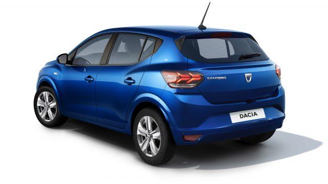 Studiobeeld Dacia Sandero driekwart achter