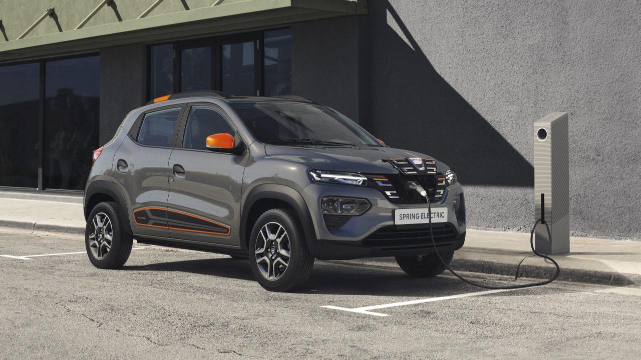 Dacia Spring Electric driekwart voor