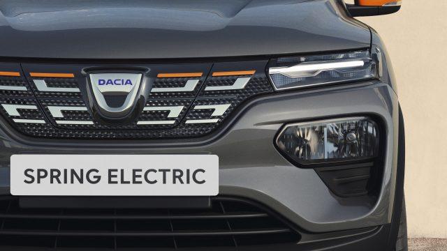 Detail Dacia Spring Electric voorkant